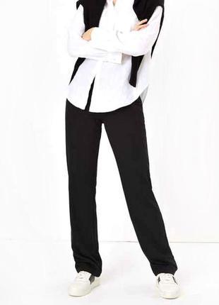 Качественные высокие брюки из плотного трикотажа, батал р.22