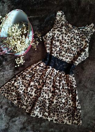 Летнее короткое платье леопардовое от madam rage