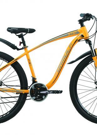 Велосипед 27.5″ Formula KOZAK 2020 (оранжево-черный с серым)