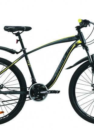 Велосипед 27.5″ Formula KOZAK 2020 (черно-серый с желтым)