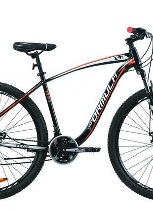 Велосипед 29″ Formula KOZAK 2020 (черно-белый с оранжевым)
