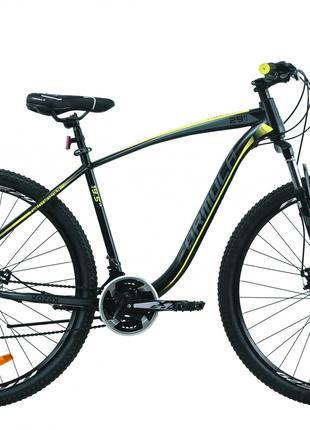 Велосипед 29″ Formula KOZAK 2020 (черно-серый с желтым)