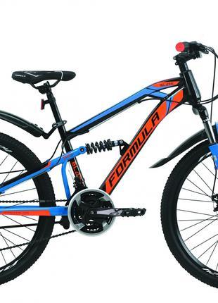 Велосипед 24″ Formula BLAZE DD 2020 (черно-синий с оранжевым)