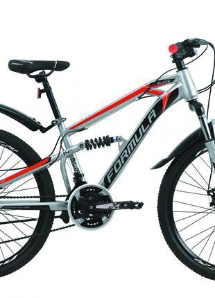 Велосипед 24″ Formula BLAZE DD 2020 (серо-черный с красным)