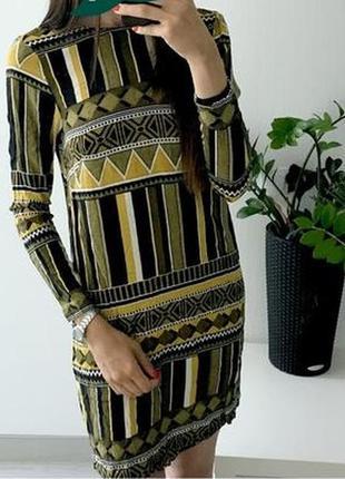 Платье h&m в геометрический / этно принт