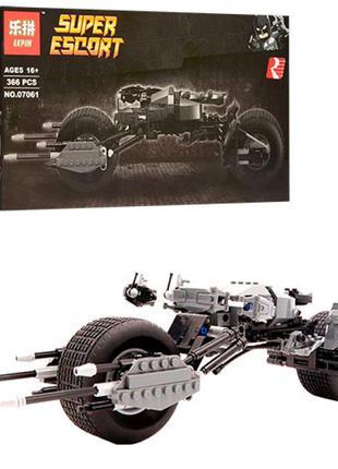 Конструктор Lepin Мотоцикл Бэтмена (Серия Super Escort) 366 дет