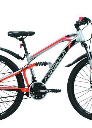 Велосипед 26″ Formula BLAZE 2020 (серо-красный с черным)