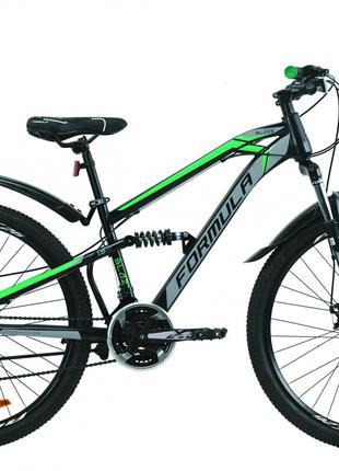 Велосипед 26″ Formula BLAZE 2020 (черно-серый с зеленым)