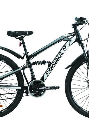 Велосипед 26″ Formula BLAZE 2020 (черно-серый с белым)