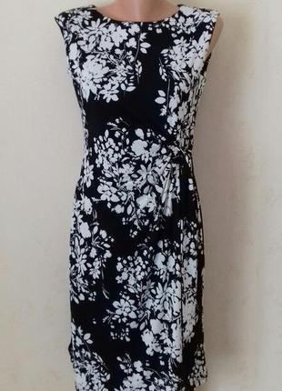 Элегантное платье с принтом цветы f&f