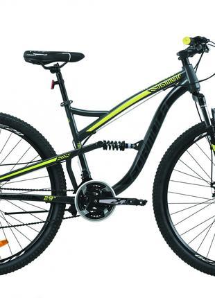 Велосипед 29″ Formula SPARK DD 2020 (серо-черный с желтым)