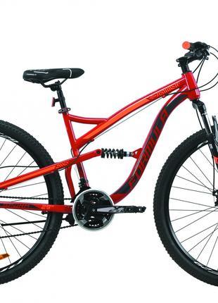 Велосипед 29″ Formula SPARK DD 2020 (рубиново-серый с оранжевым)