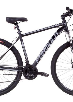 Велосипед 29″ Formula THOR 1.0 AM 14G DD Al 2019 (черно-серый с б