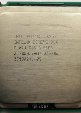 Процессор Intel Core 2 Duo E6850 G0 SLA9U 3.00GHz 4M Cache 1333 M