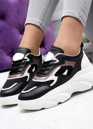 Идеальные кроссовки голограмма женские платформа сетка толстая...
