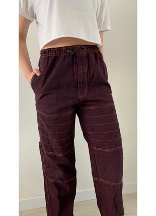 Джинси з великими кишенями, модні джинси, брюки,штани трендові...