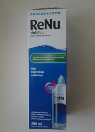 Растворы для линз / розчини для лінз ReNu MultiPlus 360ml
