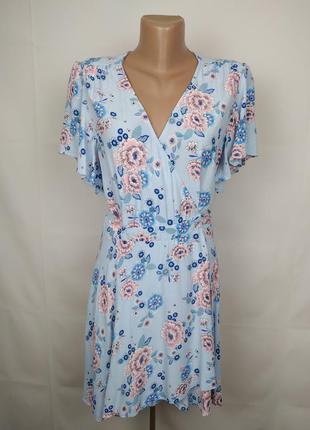 Платье натуральное нежное на запах miss selfridge uk 10/38/s