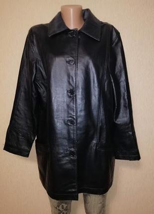 Красивая женская демисезонная куртка, пиджак из натуральной ко...