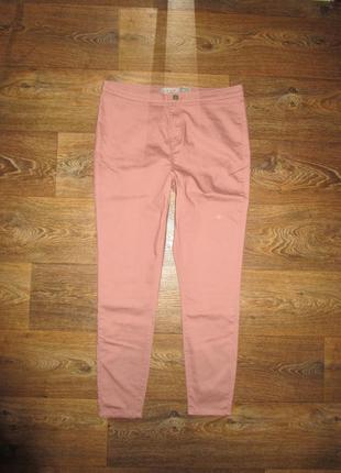 Яркие джеггинсы!!! цвет розовая пудра!!!