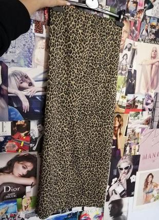 Юбка леопард