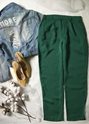 Яскраві штани-чінос з лампасами /висока посадка