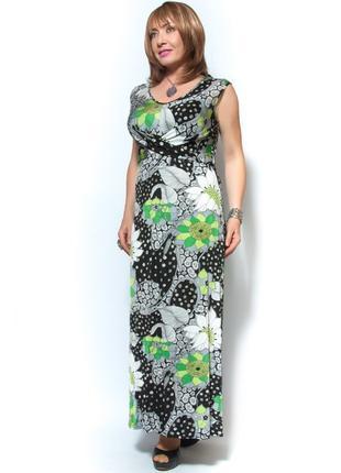 Платье-сарафан в принт