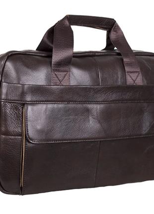 Удобная мужская сумка, портфель кожаный