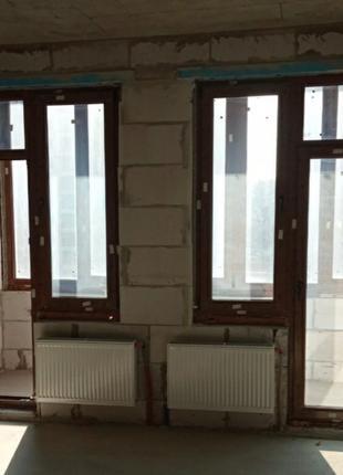 Металлопластиковые балконные двери с окнами (блоки)