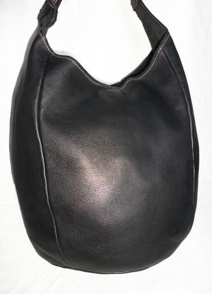 Стильная большая сумка из натуральной кожи