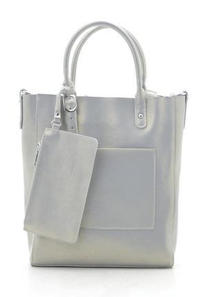Женская кожаная сумка с кошельком