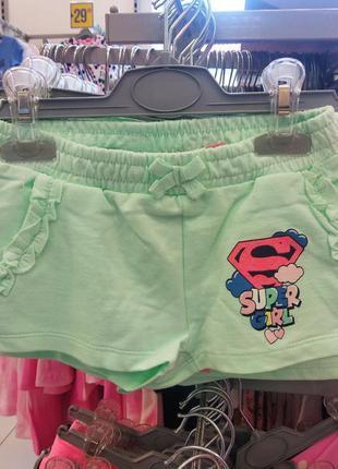 Шорты, шорты трикотажные, шорты на девочку, шорты детские