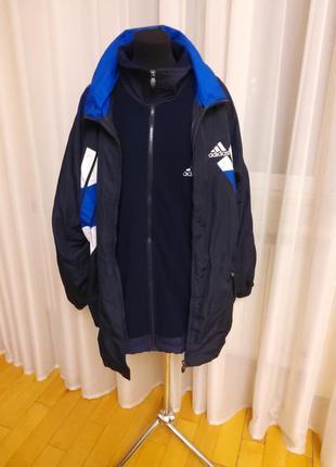 Куртка ветровка + флисовка adidas  раз.2xl-3xl