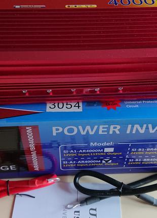 Инвертор напряжения 12В и 24В на 220В на 4000Вт,8кВт пиковая.