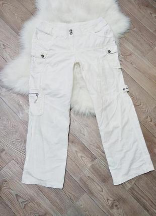 Натуральные next хб льняные повседневные широкие штаны клеш брюки
