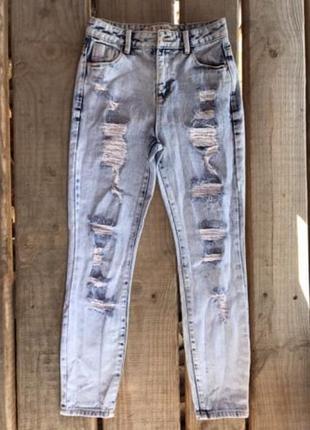 💖💖💖стильные рваные женские джинсы мом denim co💖💖💖
