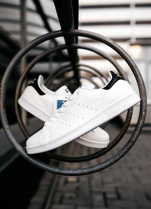 Хит! Шкіряні білі кросівки Adidas Stan Smith Адидас Стен Смит