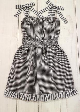 Платье сарафан в клетку asos, 8-9-10 лет