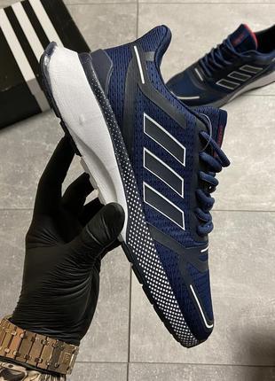 Adidas cloudfoam mesh blue мужские кроссовки