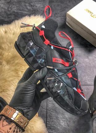 Jimmy choo diamond black red женские стильные кроссовки тренд ...