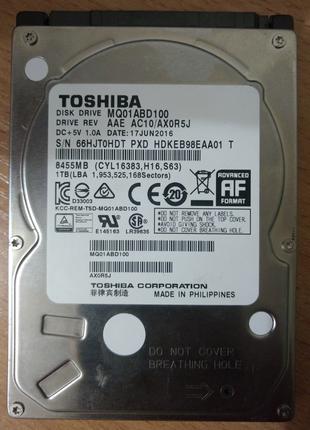 Жесткий диск Toshiba 1T