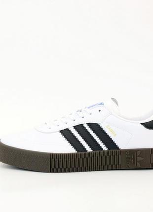 Adidas samba white black очень стильные мужские кроссовки трен...