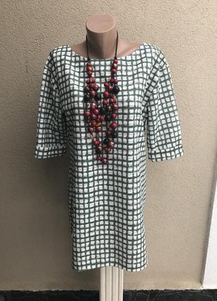Платье,туника,блуза из фактурной,перфорированной ткани в клетк...