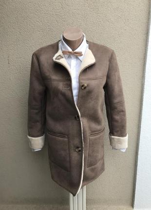 ,теплая дубленка под замшу,куртка,шубка,пальто на меху,zara,ма...