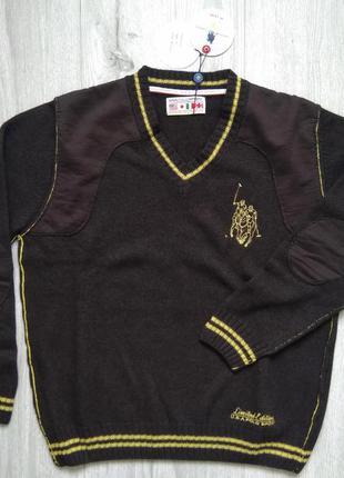 Свитер мужской polo sport кофта свитшот коричневый