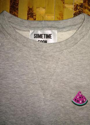 Премиум бренд лонгслив реглан свитшот marino boys с арбузом дв...