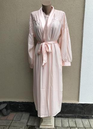 Розовое,винтаж.люкс белье домашнее,комплект(халат,пенюар-плать...