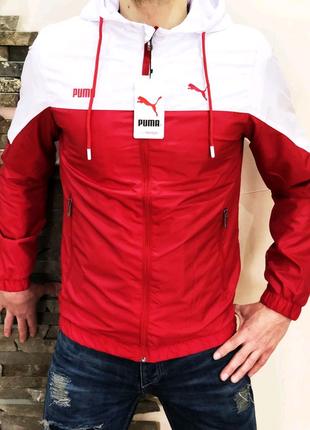 Ветровка Puma S20 красно-белая