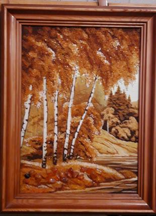 Картина з бурштину 40×28