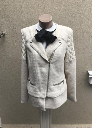 Крутая куртка-косуха,жакет,пиджак из фактурной ткани,без подкл...